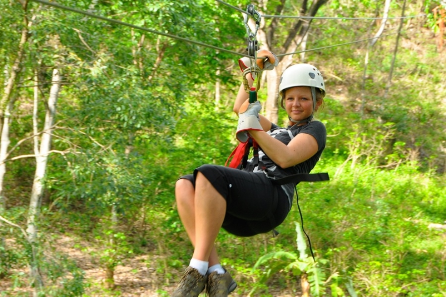 Golte adrenalin zip-line
